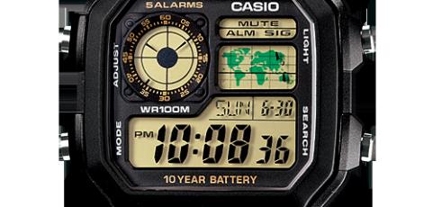 Casio AE-1200 Uhrzeit Einstellen / Casio 593