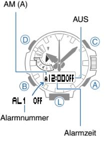 ProTrek PRX-8000 Alarmzeit Einstellen Casio 5470-1