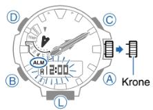 ProTrek PRX-8000 Alarmzeit Einstellen Casio 5470-2