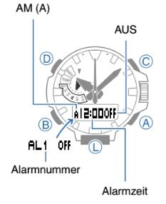 ProTrek PRX-8163 Alarmzeit Einstellen Casio 5470-1