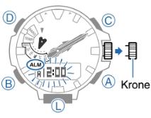 ProTrek PRX-8163 Alarmzeit Einstellen Casio 5470-2