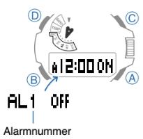 ProTrek PRX-8163 Alarmzeit Einstellen Casio 5470-3