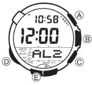 ProTrek SPW-1000 Alarmzeit Einstellen Casio 3047-1