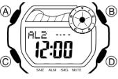 Baby-G BLX-100 Alarmzeit Einstellen Casio 3265-1