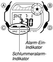Baby-G BLX-100 Alarmzeit Einstellen Casio 3265-5