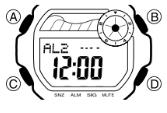 Baby-G BLX-102 Alarmzeit Einstellen Casio 3265-1