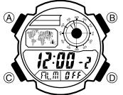 Casio AE-1000 Alarmzeit Einstellen Casio 3198-1
