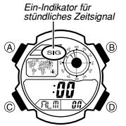 Casio AE-1000 Alarmzeit Einstellen Casio 3198-6