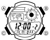 Casio AE-1200 Alarmzeit Einstellen Casio 3299-1