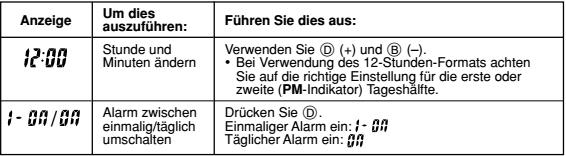 Casio AE-1200 Alarmzeit Einstellen Casio 3299-4